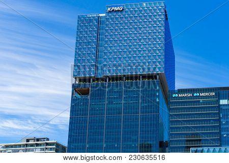 Melbourne, Australia - December 7, 2016: Professional Services Companies Corporate Offices Kpmg, Mer