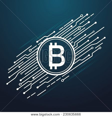 Digital Currency Encryption Concepts. Vector Eps File.