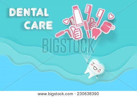 Tooth Wear Invisible Braces With Dental Care On The Blue Background