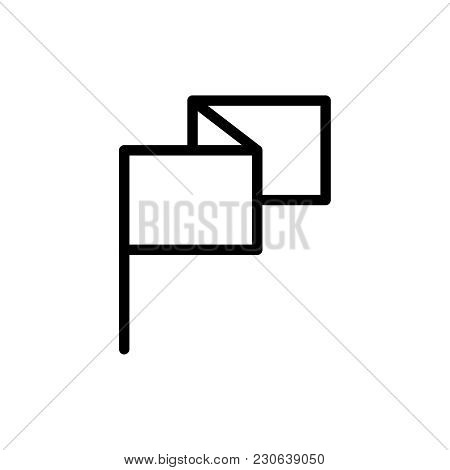Flag Flat Icon. Single High Quality Outline Symbol Of Info For Web Design Or Mobile App. Thin Line S
