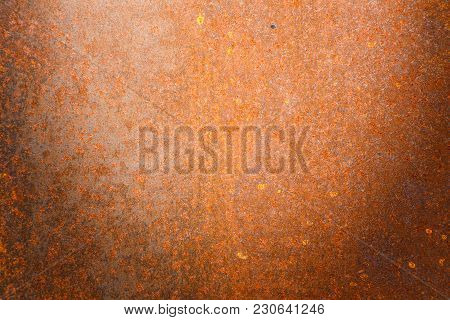 Rusty Metal Texture Background For Interior Exterior Decoration And Industrial Construction Concept