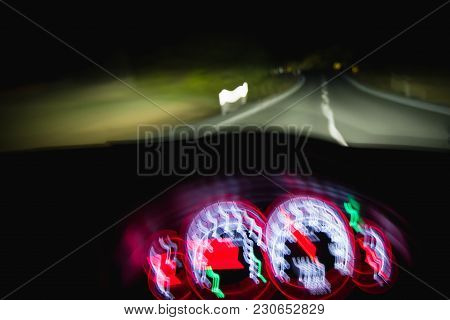 Bad Driving At Night Due To Drinking, Speeding Or Being Tired