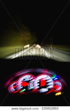 Dangerous Driving While Intoxicated At Night With Blurry Vision
