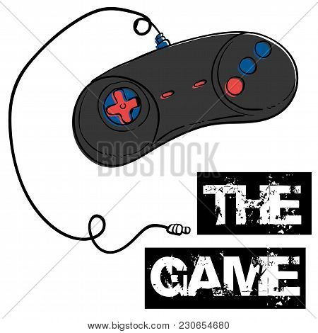 The Game Joystick White Background Vector Image