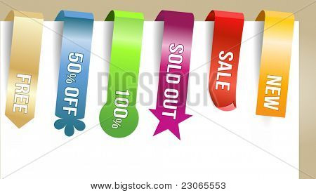 Different paper tags - Vector announcements