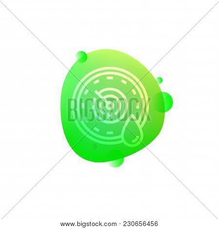 Vector Illustration Of Hi-tech Robotic Humidity Sensor Icon Isolated On White Background.