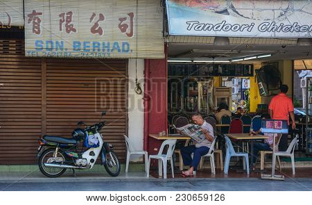 George Town, Malaysia - Mar 10, 2016. Chinese Restaurant In George Town, Malaysia. George Town Is On