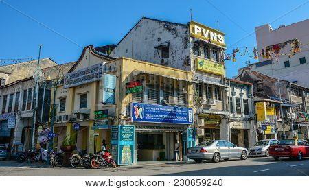Old Buildings In George Town, Malaysia