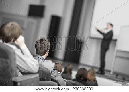 Business Conferences And Presentations.training Business And Education.photo With Blank For Text