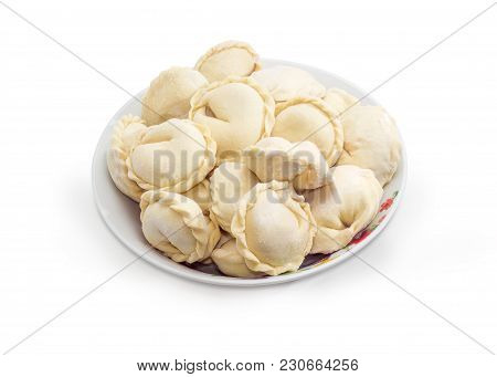 Uncooked Frozen Varenyky - Dish Of The Eastern European And Ukrainian Cuisine Also Known As Dumpling