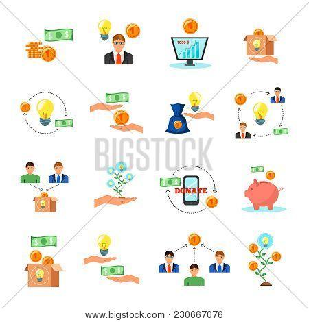 Online Crowdfunding Alternative Finance Crowdsourcing Money Raising For Projects Via Internet Flat I