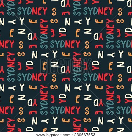 Sydney Seamless Pattern. Creative Design For Various Backgrounds.