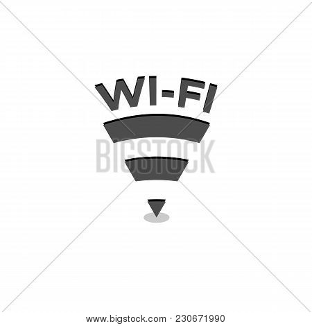 Wifi Connection Illustration. Black Wireless Connection Sign