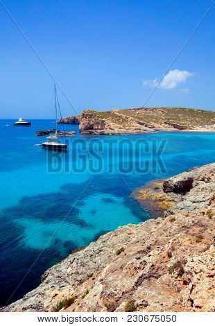 Beautiful landscape of Blue Logoon of Malta