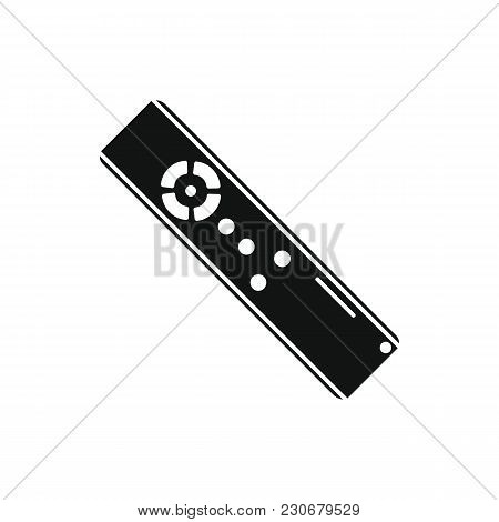 Remote Controller Icon. Silhouette Illustration Of Remote Controller, Vector Icon For Web And Advert