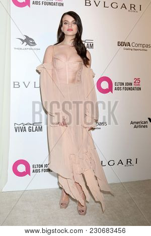 LOS ANGELES - MAR 4:  Sonia Ben Ammar at the 2018 Elton John AIDS Foundation Oscar Viewing Party at the West Hollywood Park on March 4, 2018 in West Hollywood, CA