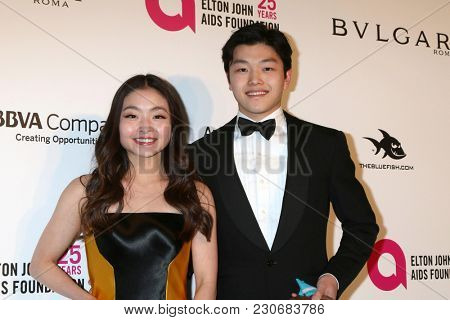 LOS ANGELES - MAR 4:  Maia Shibutani, Alex Shibutani at the 2018 Elton John AIDS Foundation Oscar Viewing Party at the West Hollywood Park on March 4, 2018 in West Hollywood, CA