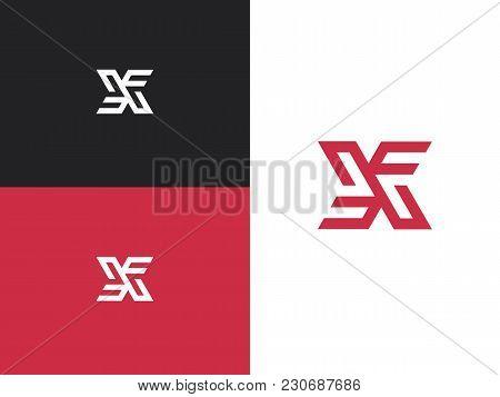 Vector Graphic Creative Line Alphabet Symbol. X Letter. X Monogram.