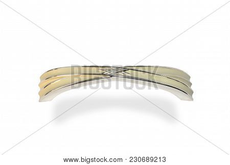Golden New Door Knocker With A White Dusting Isolated On White