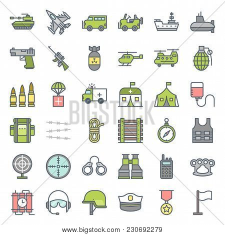 Military And Weapons Related Filled Outline Icon
