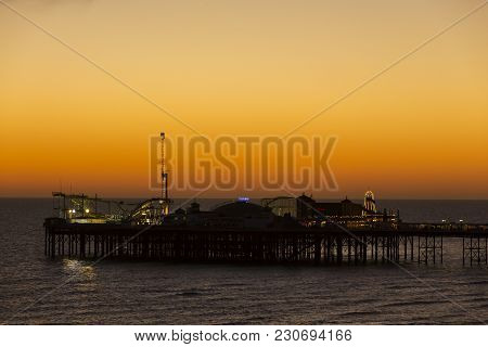 The Brighton Palace Pier, Commonly Known As Brighton Pier Or The Palace Pier Is A Grade Ii Listed Pl