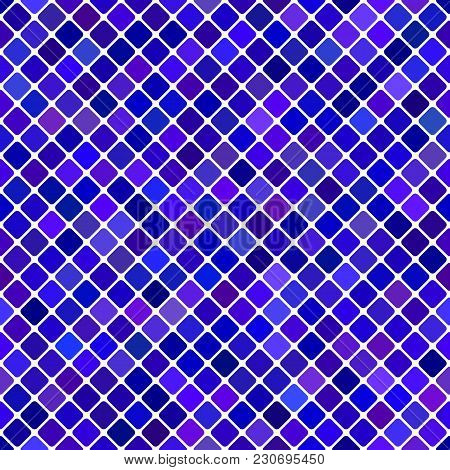 Blue Abstract Seamless Diagonal Square Pattern Background Design - Vector Graphic