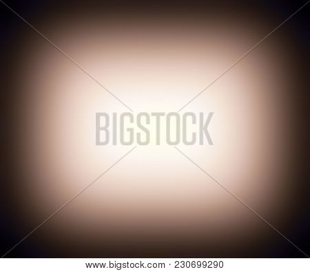 Retro Faded Brown Glow Border Frame Background