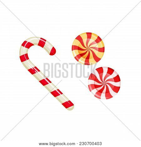Sweet, Striped Fruit Candy With Stuffing. Dessert, Delicious Food, Sweets For Tea. Gifts For Holiday