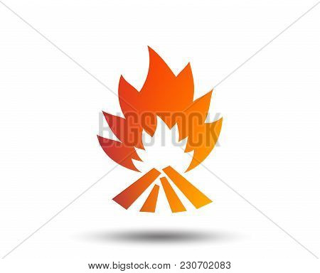 Fire Flame Sign Icon. Heat Symbol. Stop Fire. Escape From Fire. Blurred Gradient Design Element. Viv