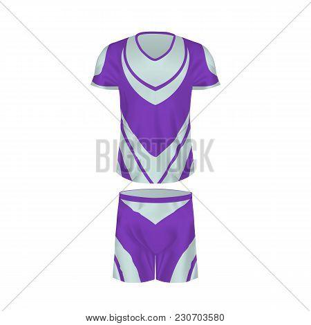 Realistic Mockup Of Men T-shirt And Shorts, Football Form. Men S Sports Short Sleeve T-shirt, Casual