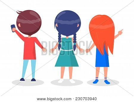 Back View On Best Friends Vector & Photo | Bigstock