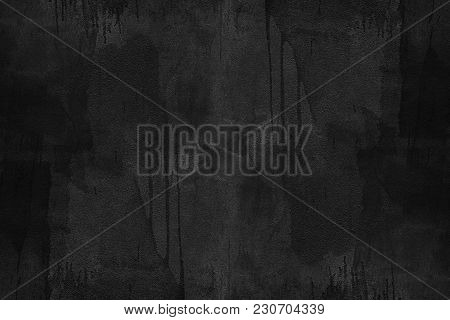 Black Concrete Texture With Dirty Painted. Abstract Background. Vintage Or Retro Backdrop. Website B