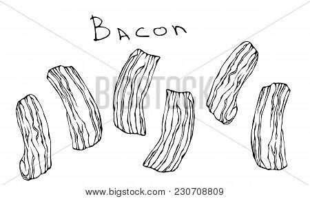 Bacon Icon. Cartoon Illustration Of Bacon Vector Icon For Web