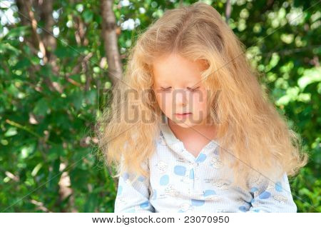 Little Girl With Beautiful Long Hair