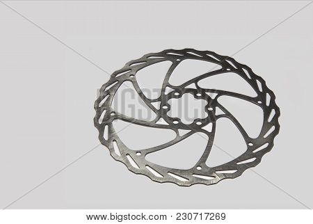 Bicycle Brake Disk On A White  Background