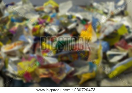 Colorful Salt Water Taffy On White Background With Copy Space. Macro With Extremely Shallow Dof