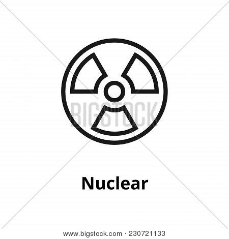 Nuclear Thin Line Icon. Icon For Web And User Interface