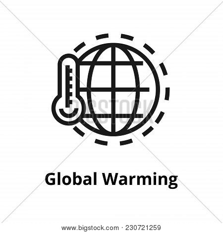 Global Warming Thin Line Icon. Icon For Web And User Interface