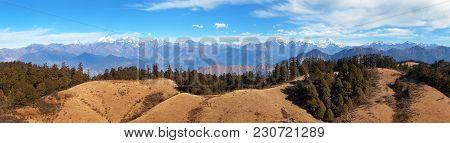Panoramic View From Khaptad National Park, Mount Saipal, Great Himalayan Trail, Rara To Khaptad Trek