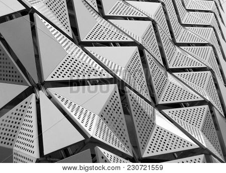 Metal Geometric Angular Cladding With Perforated Design