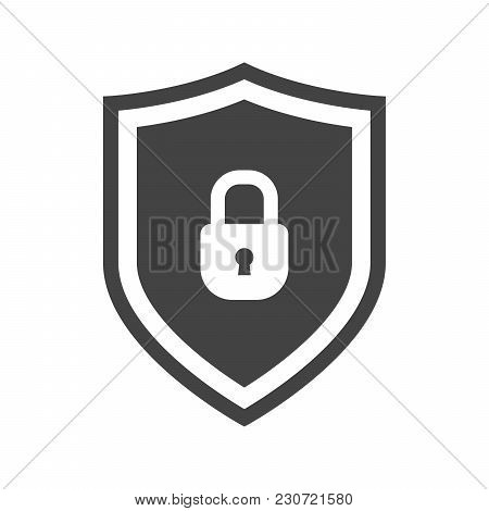 Vector Shield Icon, Emblem With Lock. Security Icon Collection. Protection Logo. Сryptocurrency Prot