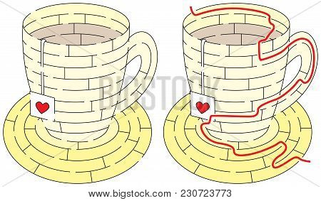 Easy Tea Maze For Younger Kids With A Solution