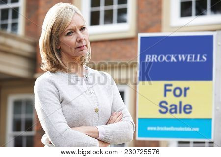 Mature Woman Forced To Sell Home Through Financial Problems