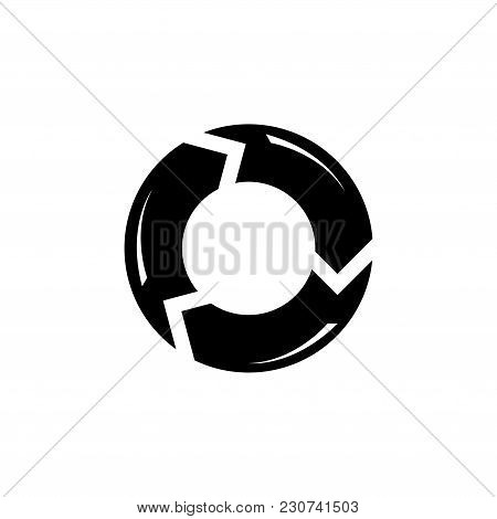 Reload Refresh Arrows Loop. Flat Vector Icon. Simple Black Symbol On White Background