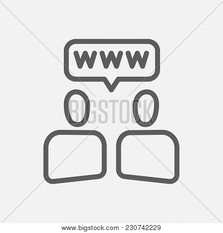 Social Building Icon Line Symbol. Isolated Vector Illustration Of  Icon Sign Concept For Your Web Si
