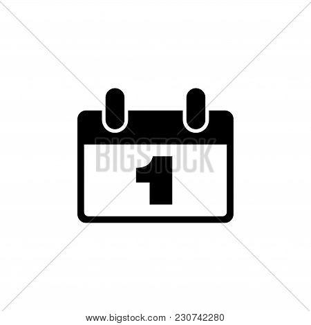 Calendar. Flat Vector Icon. Simple Black Symbol On White Background