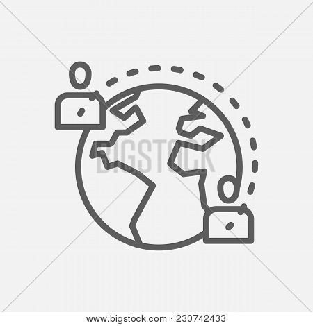 Social Media Icon Line Symbol. Isolated Vector Illustration Of  Icon Sign Concept For Your Web Site