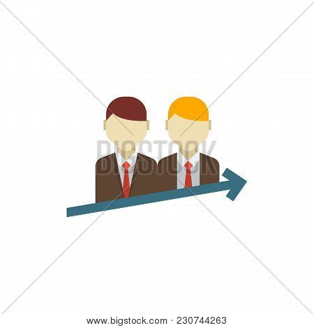Successful Partnership Icon Flat Symbol. Isolated Vector Illustration Of Success Team Sign Concept F