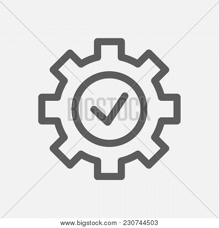 Core Values: Expertise Icon Line Symbol. Isolated Vector Illustration On Company Values Check Sign C