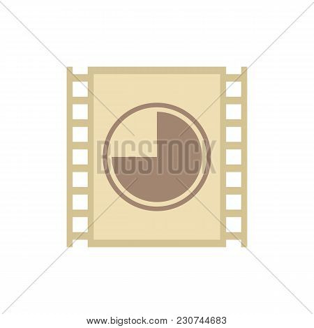 Cinema Film Show Icon Flat Symbol. Isolated Vector Illustration Of Filmstrip Sign Concept For Your W